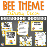 Library Posters Décor Set- Bee Theme