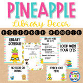 Library Posters Décor Set - Pineapple Theme