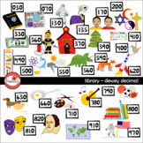 Library Dewey Decimal Category Clipart by Poppydreamz
