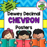Library Dewey Posters Chevron Pack + FREE Dewey Guide & Bookmarks