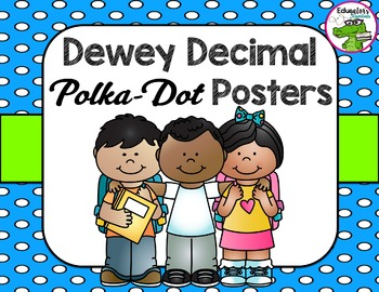 Library Dewey Posters Polka-Dot Pack + FREE Dewey Guide &