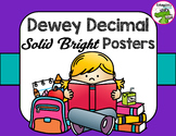 Library Dewey Posters Solid Brights Pack + FREE Dewey Guide & Bookmarks