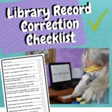 Library Digital Record Correction Checklist for Aides and