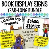 Library Book Display Signs BUNDLE