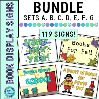 Book Display Signs BUNDLE Sets A-F for Library/Media Cente