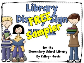 Book Display Signs for the Library: FREE SAMPLER