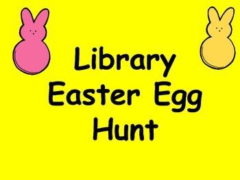 Library Easter Egg Book Hunt
