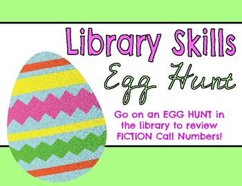 Library Easter Egg Hunt ~ Library Skills ~ Call Number Game ~ Spring Activity