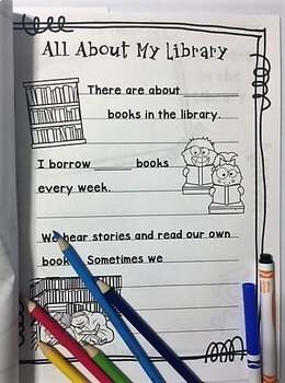 Library Media Center End of the Year Memory Book