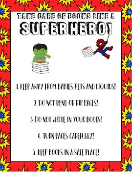 Library Etiquette Posters - Superhero Theme (Avengers)