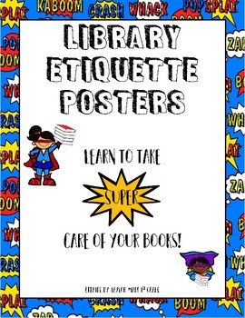 Library Etiquette Posters_How to Take Care of Books Posters