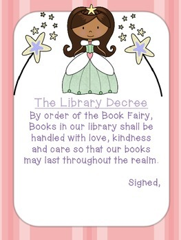 """""""Library Ever After"""" Rules Posters"""