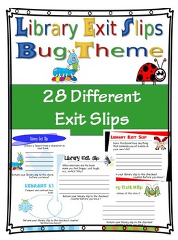 Library Exit Slip Bug Theme