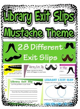 Library Exit Slip Mustache Theme