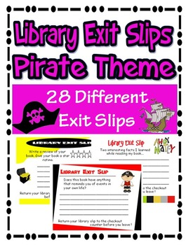 Library Exit Slips Pirate Theme