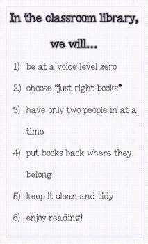 Classroom Library Expectations