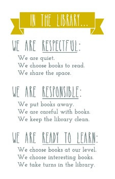 Library Expectations Poster