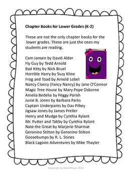 Favorite Chapter Books