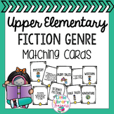 Library Fiction Genre Matching Cards- Upper Elementary