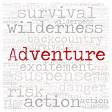 Library Fiction Genre Sign:  ADVENTURE