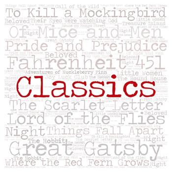 Library Fiction Genre Sign:  CLASSICS