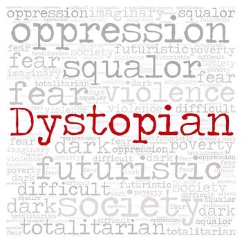 Library Fiction Genre Sign:  DYSTOPIAN