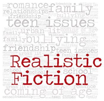 Library Fiction Genre Sign:  REALISTIC FICTION