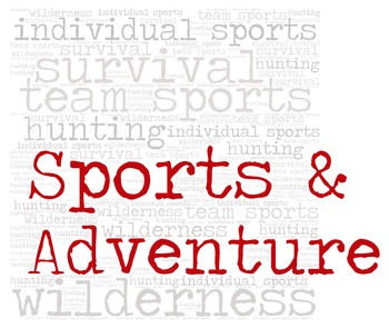 Library Fiction Genre Sign:  SPORTS & ADVENTURE