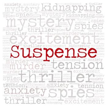 Library Fiction Genre Sign:  SUSPENSE