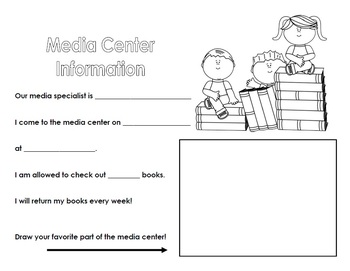 Library First Day Information Sheet for Kids