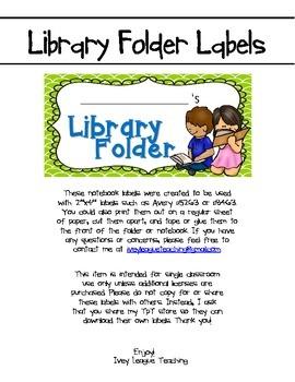 Library Folder Labels