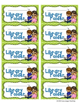 Library Folder Labels