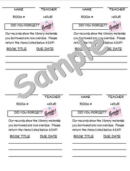 Library Forms