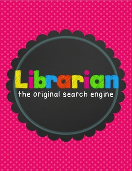 Library Sciences Bundle -Signs, Hall Pass, Book Marks, editable labels, signs