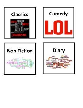 Library Genre Bin Labels
