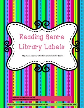 Library Genre Labels