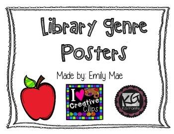 Library Genre Poster Set