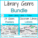 Library Genre Posters and Classroom Library Labels Bundle
