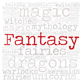 Library Fiction Genre Sign:  FANTASY