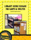 Editable Library Signage for Carts & Shelves - Spanish & E