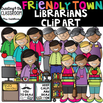Library Clipart Growing Bundle {Books Clip Art}