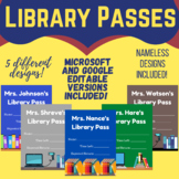 Library Hall Pass- Library Pass