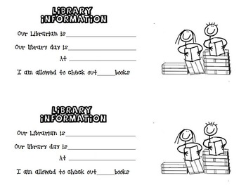 Library Information sheet