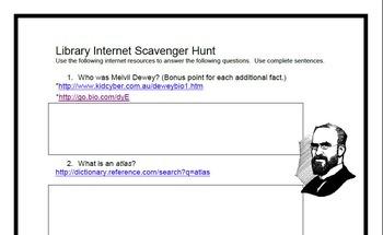 Library Internet Scavenger Hunt