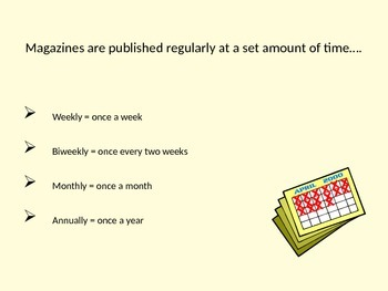 Library: Introduction to Magazines