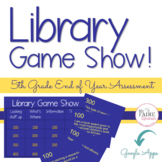 Library Jeopardy   5th Grade   Review   Assessment   Interactive   Digital