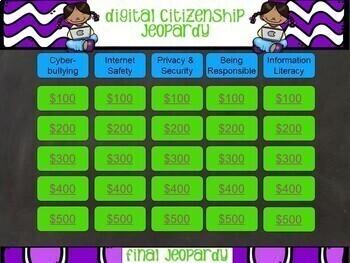 Library Jeopardy Bundle - Orientation, Digital Citizenship, Holiday
