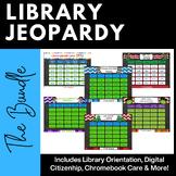 Library Jeopardy Bundle - Orientation, Digital Citizenship, Halloween, Holiday