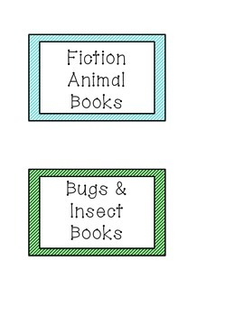 Library Label Cards