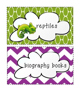 pk-2 literacy library labels